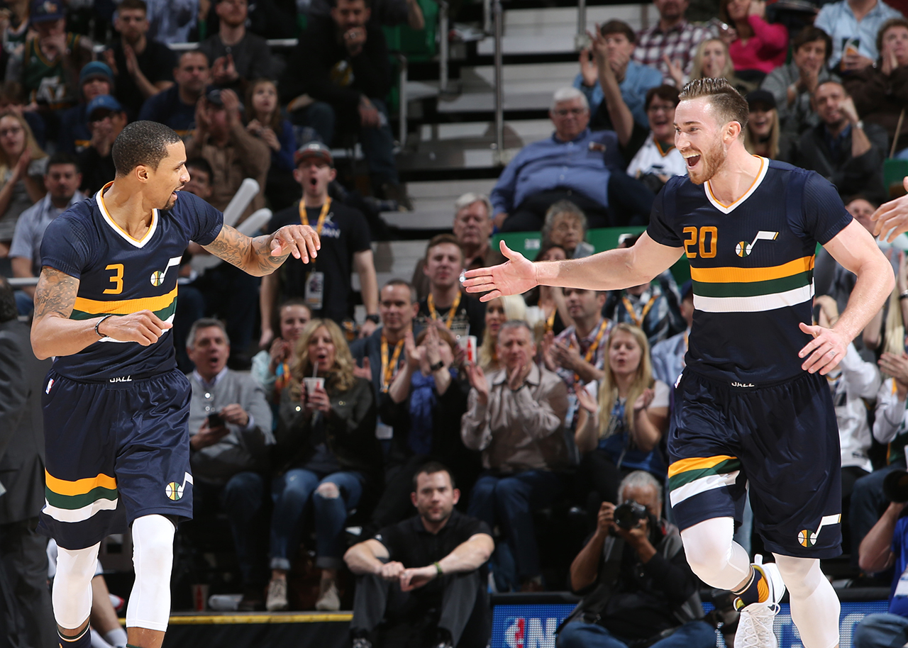 Gordon Leads Jazz to Weekend Sweep
