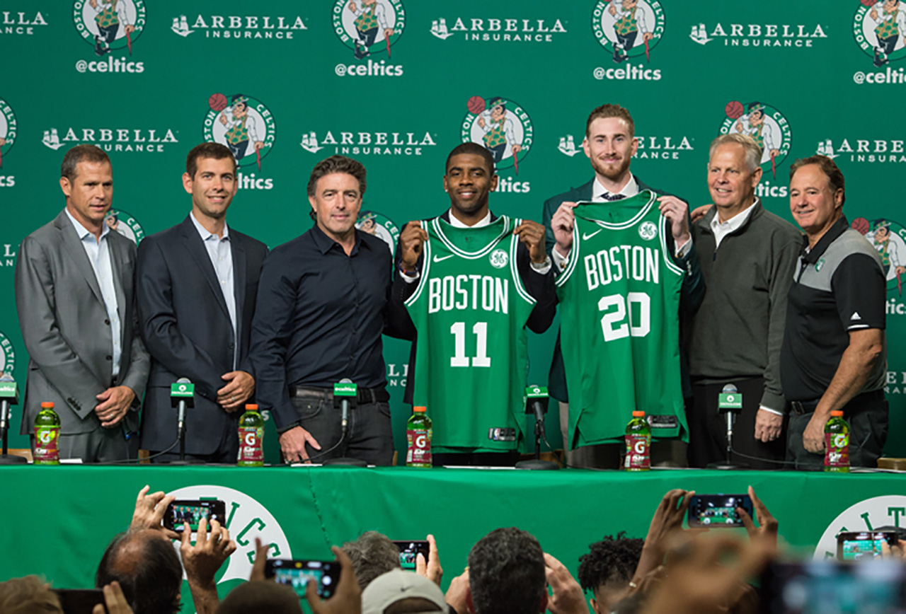 Celtics Introduce Gordon and Kyrie